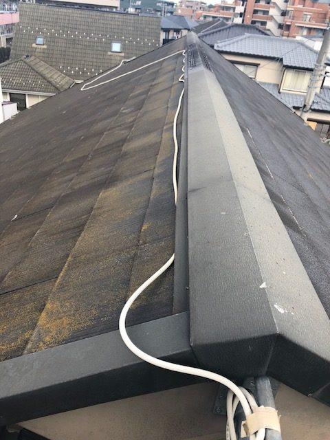 屋根上ケーブル劣化