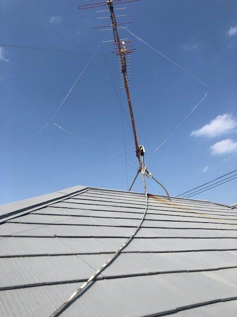 工事前。屋根上から。