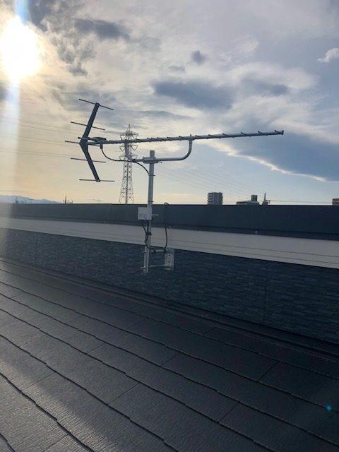 八木式アンテナ+ブースター(サイドベース設置)